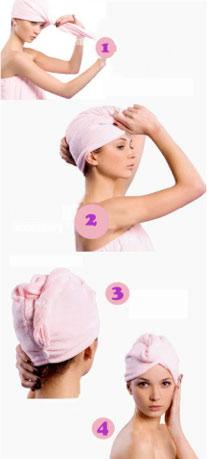 Pose de la serviette microfibre