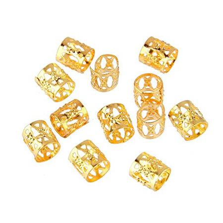 Anneaux metallique dorée