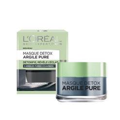 L'OREAL Masque Detox éclat 3 Argiles Pures & Charbon (50ml)
