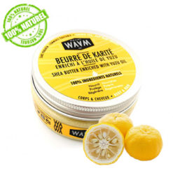 WAAM Beurre de Karité naturel à l'huile de Yuzu