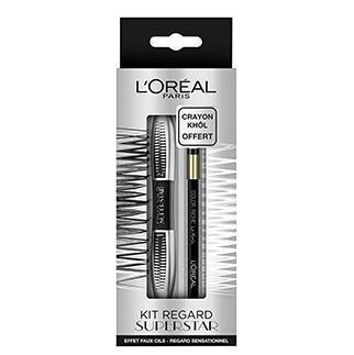 L'OREAL Coffret Mascara Superstar & Liner Gel Crayon