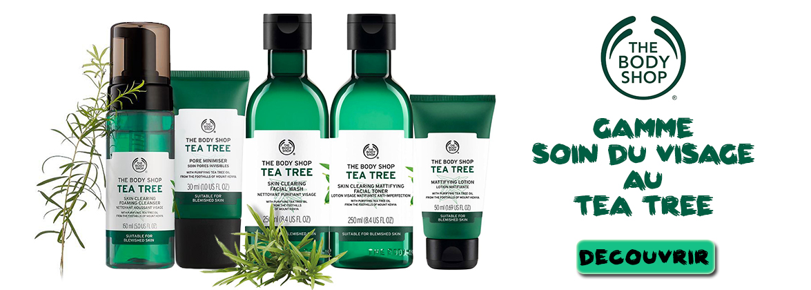 Gamme soin du visage au tea tree THE BODY SHOP