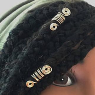 Anneaux décoratifs en spirale pour braids