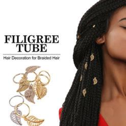 Anneaux décoratifs feuille pour braids
