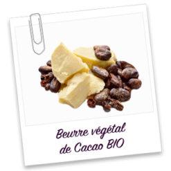 Beurre végétal de cacao bio filtré