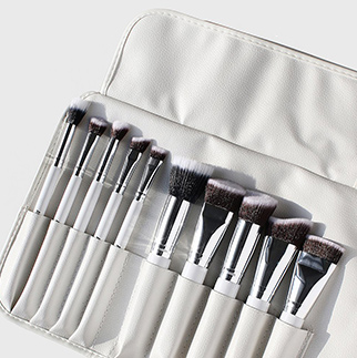 AOA kit de 10 pinceaux Sculpting blanc +rangement on pocket