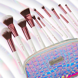 BH Cosmetic set de 12 pinceaux + trousse Crystal Quartz