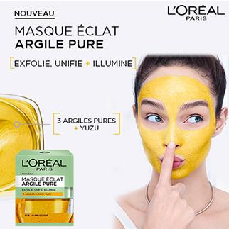 L'OREAL Masque Eclat 3 Argiles Pures & Yuzu (50ml) cover