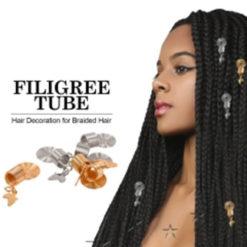 Anneaux décoratifs Africa Gold pour braids