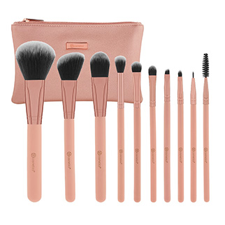 BH COSMETICS Pretty in Pink Set de 10 pinceaux +trousse