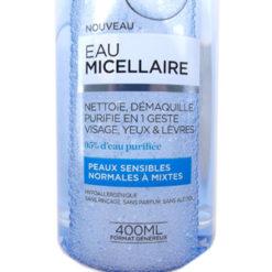 L'Oreal eau micellaire peaux sensibles