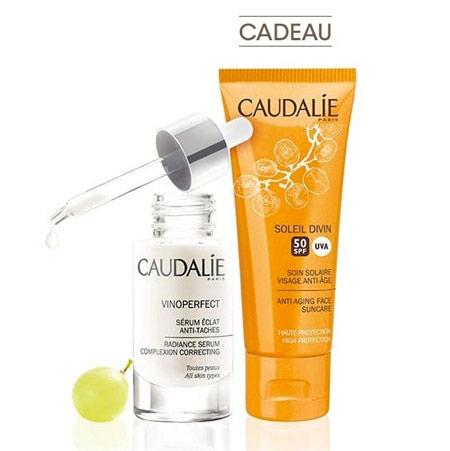 CAUDALIE Coffret Vinoperfect Sérum + Crème Solaire Divine SPF50 Offerte