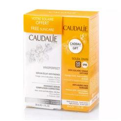 CAUDALIE Coffret Vinoperfect serum + Creme solaire