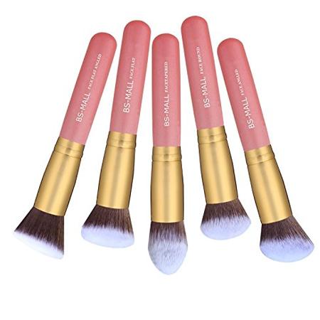 Set de 14 pinceaux kabuki pro rose gold teint & yeux BS 3