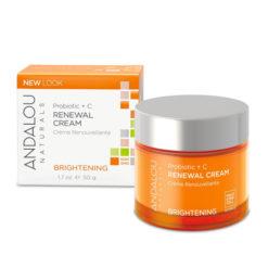 ANDALOU NATURALS Probiotic + vitamine C Crème renouvelante et éclaircissante