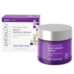 ANDALOU NATURALS Resveratrol Q10 crème régénératrice de nuit