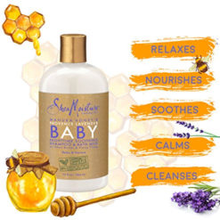 SHEA MOISTURE Manuka Honey and Provence Lavender Baby Nighttime Soothing Shampoo and Bath Milk