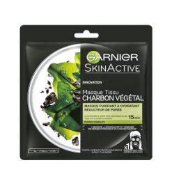 GARNIER SkinActive Masque en Tissu Charbon Végétal réducteur de pores
