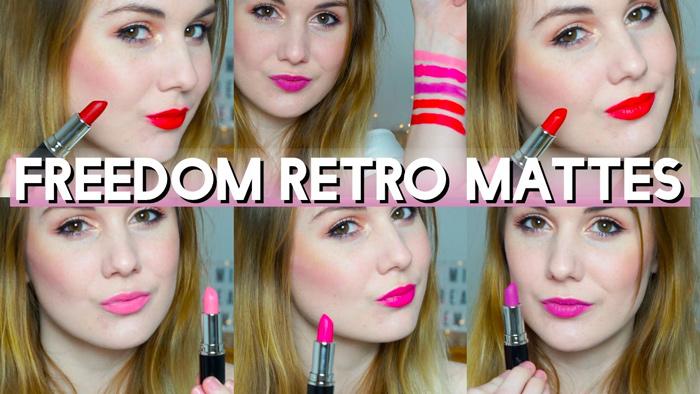FREEDOM Retro Mattes Collection rouge à lèvres (rendu)