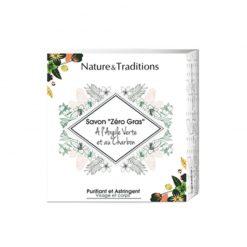 NATURE & TRADITIONS Savon Zéro Gras Argile verte et charbon
