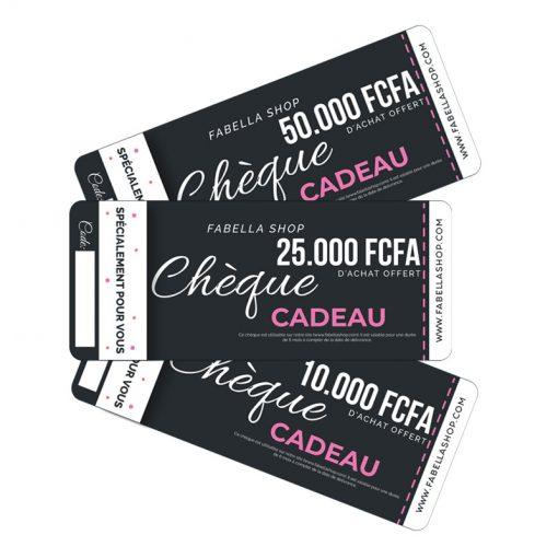 Chèque ou carte cadeau Fabella