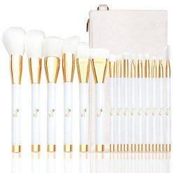 Set de 15 pinceaux Blanc gold teint & yeux + Trousse Qivange first