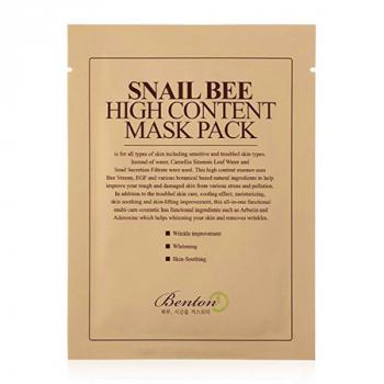BENTON Snail Bee High Content Masque en tissu - Escargot & venin d'abeille