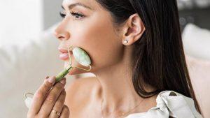 Derma-roller Cristaux de jade rafraîchissant stimulant utilisation