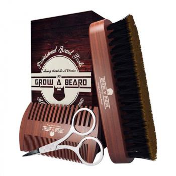 GROW A BEARD kit d'accessoirs de barbe