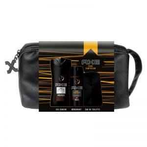 AXE Coffret Trousse Dark Temptation Parfum-Déodorant-Gel douche-Trousse