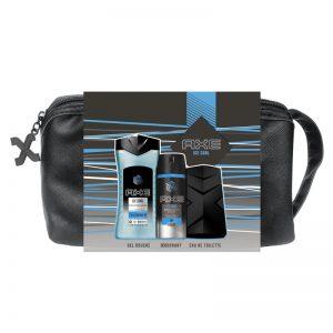 AXE Coffret Trousse Ice Cool Parfum-Déodorant-Gel douche-Trousse