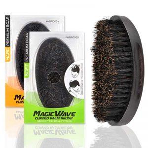 Magic Wave Curved Palm Brosse en poils de Sanglier