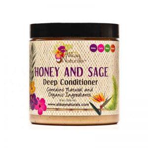 ALIKAY NATURALS Honey And Sage Deep Conditioner Masque Revitalisant Intense