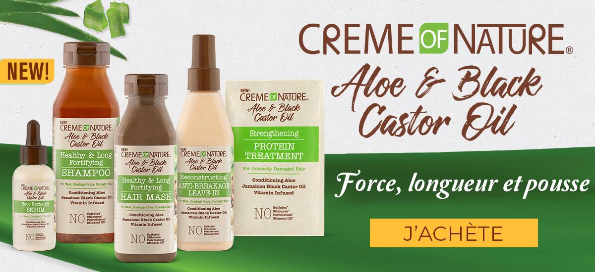 CREME OF NATURE gamme aloe & black castor oil