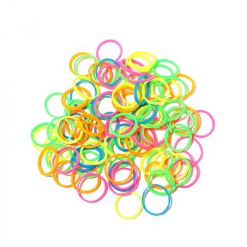 Lot de 500 Elastiques pour Cheveux Couleur Neon